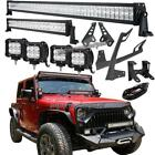 52 +22 +4 18W LED Light Bar +Mount Brackets Kit For Jeep Wrangler JK Rubicon