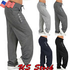 US Women Casual Loose Cotton Sweatpants Sports Harem Trousers Yoga Jogger Pant