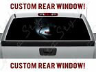 Rear Window Face Scary Clown Haunted Pickup Halloween Dark IT Truck Perforated