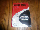 1961 Dodge R Series Power Giant Owner's Manual Vintage - Glove Box