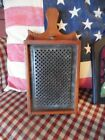 Antique Tin Grate Nutmeg Grinder Grater Box Primitive