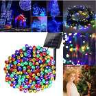 Solar 200 LED String Fairy Light Garden Outdoor Wedding Party Xmas Decor Lamp US