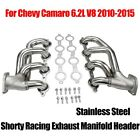 For Chevy Camaro 62L V8 2010 15 Stainless Shorty Racing Exhaust Manifold Header