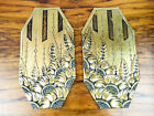 Vintage Decorative Metal Art Nouveau Style Brass Door Push Plates Floral Leaf