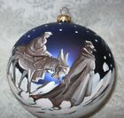 6 Extra Large Hand Blown  Painted Nativity Glass Ornament Poland