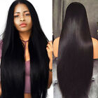1B Black Lace Front Wig Synthetic Cabelo Long Silky Straight Wigs For Women