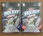 2 Box Lot 1990-91 Upper Deck UD Hockey Boxes One Low & One High Series SEALED