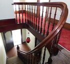 Antique Victorian Style Curved Staircase - C. 1870 Walnut Architectural Salvage