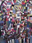 19th C. Victorian Handmade Crazy Quilt TOP - Folk Art Antique 62