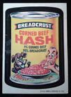 1973 1st Series 1 Topps Wacky Packages Breadcrust Hash White Back Sticker Card