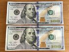 """(2) CRISP $100 BILLS FEDERAL RESERVE NOTES """"999"""" & CONSECUTIVELY NUMBERED  2009A"""