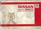 6825 # Manual user in spanish Nissan Vanette 1985