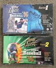 2 Box Lot 1996 Topps Laser Baseball Series 1 and 2 Factory Sealed Boxes New