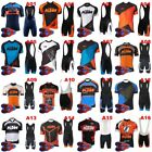 Mens Pro Team Cycling Jersey Set Top bib Shorts MTB Quick Dry Sportswear Suit