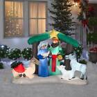 Christmas Outdoor 5 Airblown Inflatable Lighted Nativity Scene Figures