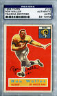 1956 Topps RON WALLER Signed Card PSA DNA Slabbed Auto Los Angeles Rams RC