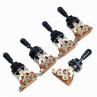 5Pcs Black Gutar Pickup Switch 3 way Toggle Switch with Black Cap Guitar Parts