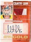 2010-11 Bet the Pipes Country Gear Jsy Auto Gold #CGMMB Martin Brodeur Jsy 1