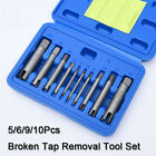 56910pcs Flute Broken Tap Extractor Remove Set Metric Workshop Garage Tool