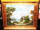 Vintage Oil Painting w/Gold Gilt Ornate Wood Picture Frame Large 33 x 29 Harixon