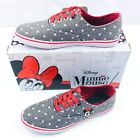 DISNEY MINNIE MOUSE Womens Sneaker Shoes Gray White Polka Dots New In Box