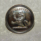 Antique Livery Picture Button House Lambe Lion Back Marked London #006-B