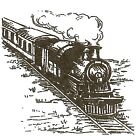 Vintage Train Engine Small Wood Mounted Rubber Stamp NORTHWOODS C10266 New