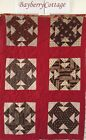 's Early Prints Double T Red Patchwork Quilt Piece #6