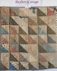 's Vintage Old Triangle Prim Early Prints Patchwork Quilt Piece #5