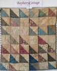 's Vintage Old Triangle Prim Early Prints Patchwork Quilt Piece #9