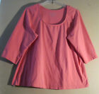 Jessica London 1X 22 24 Blouse Pink Cotton Blend       LOVELY PINK COLOR!  [111]