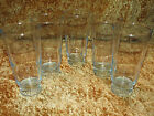 SET OF 5 VTG PALE ICE BLUE OLD FASHION RIPPLE GLASS TUMBLERS 5 1/2