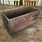 Antique Primitive Finger Jointed Rectangular Wooden Wood Box Patina Display