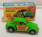 Matchbox Superfast 43 Dragon Wheels Funny Car VW Volkswagon MINT IN ORIGINAL BOX