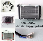 Radiator Engine Cooler + Fan for 150CC 200CC 250CC BUGGY ATV QUAD BIKE GO KART