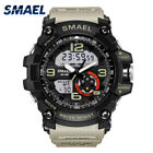 SMAEL Men Sports Watch Dual Display Analog Digital LED Electronic Wrist Watch