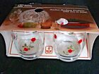 Vtg ANCHOR HOCKING Climbing Red Rose Glasses 10 oz Tumblers NEW OLD STOCK~NOS