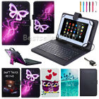 """Micro USB Keyboard Cover with Leather Case For RCA Voyager 7"""" 8"""" 10.1"""" Tablet"""