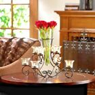 SCROLLWORK 8 PLACE CANDLE STAND WITH FLOWER VASE MODEL 10015370