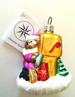 Christopher Radko BEAR MAIL Mailbox Christmas Tree Ornament New Tag ADORABLE