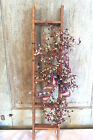 Grubby Primitive Wood Ladder Wall Hanging Door Wreath USA Americana July 4th 31