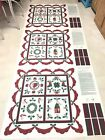 Wamsutta Quilt Top Fabric Christmas Sampler 3 Panels Wall Hanging Table Topper
