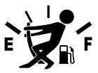 Gas Consumption Vinyl Decal Sticker Gas Tank Fuel Gauge Jdm Empty Funny