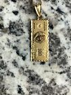 Supreem 100bill 14kt Gold Authentic Necklace Chain Box Logo North Face