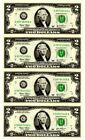 Fr 1937-G Four Note Sheet of $2.00 FRN series 2003 in C/UNC