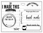 Hand Made Clear Stamp Set Made by You Stamps