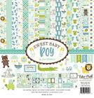 ECHO PARK PAPER CO SWEET BABY BOY COLLECTION SCRAPBOOK KIT PAPERS