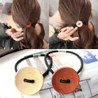 3pcs Women Simple Wood Elastic Hair Tie Rope Band Ponytail Holder ButtonsS Nice