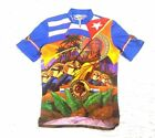 Sugoi Men Large Vintage Hasta La Victoria Siempre Cycling Jersey All Over Print