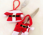 Holder Knife Fork Cutlery Set Skirt Pants  Decorations for Home 6Pcs Chirstmas N